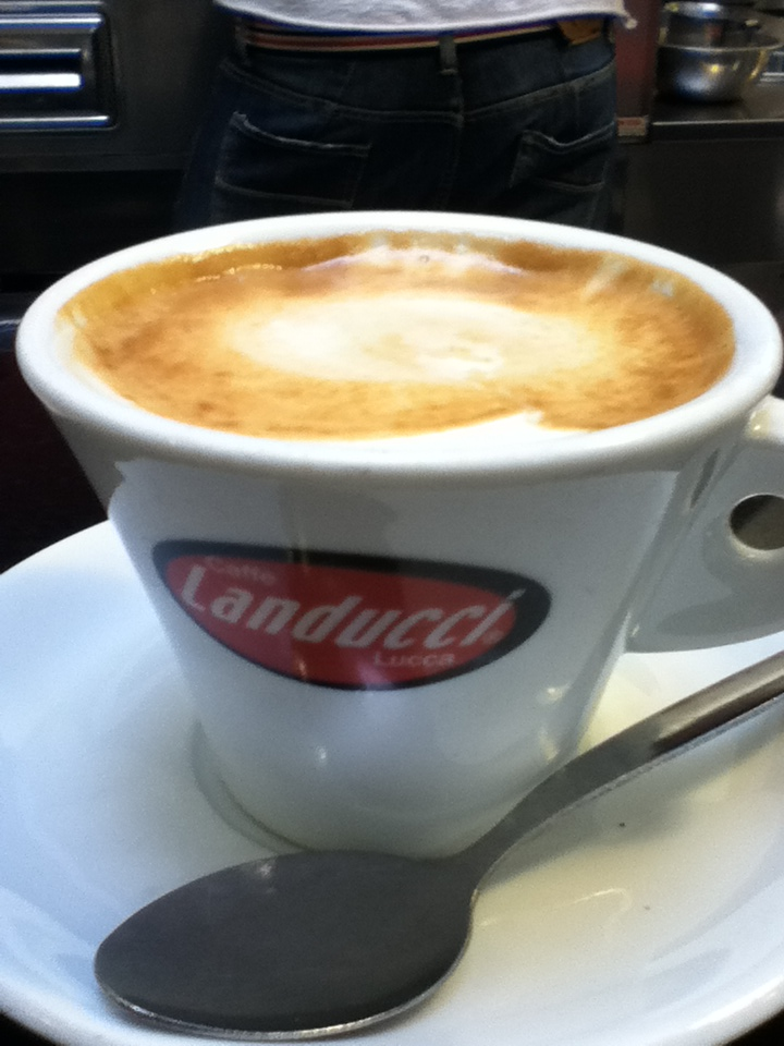 My first cappuccino in Tuscany