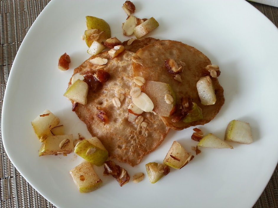 Almond and Rice Flour Pancakes with Sauteed Pears and ...