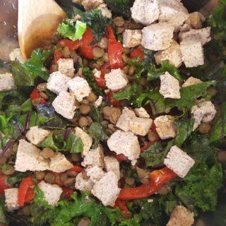 plant protein power salad