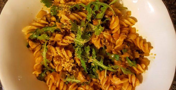 Gluten-Free Vegan Pasta Bolognese