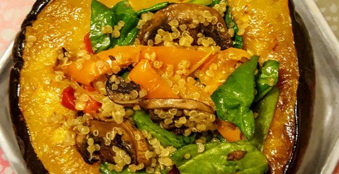 Rainbow Veggie-Stuffed Acorn Squash