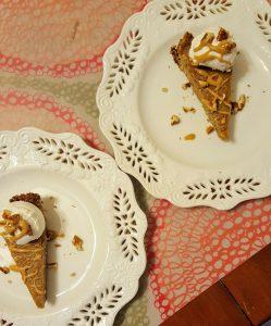 Bourbon Butterscotch Custard Pie