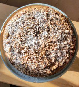 Tea-Infused Cinnamon Streusel Coffee Cake (GF, DF)
